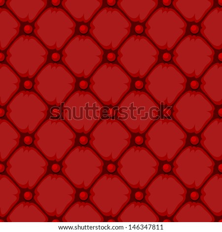 Red Upholstery. Seamless texture vector illustration - stock vector