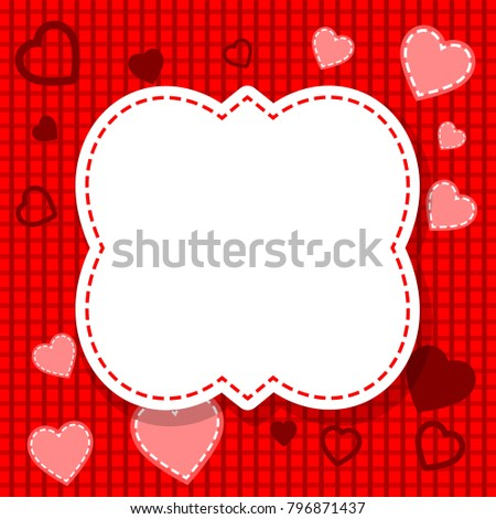 Red Valentines Day Card Blank