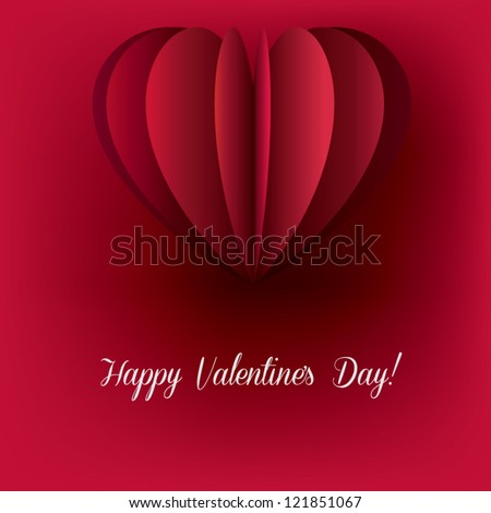 Red Valentines Day Card Heart Shaped Vector 121851067 – Heart Shaped Valentine Cards