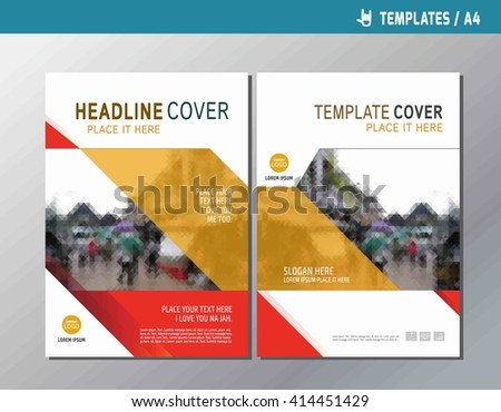 Vector Design Cover Annual Report Collection Set Stock Vector