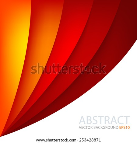 Red Vector Background Curve Line Hot Color And Orange Yellow On White Space Overlap Layer For