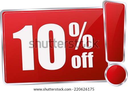 red vector discount price sign - stock vector