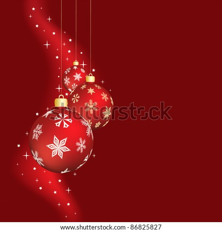 red vector illustration of the christmas decoration - stock vector