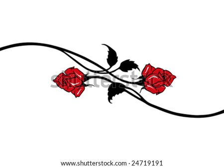 red vector roses - stock vector