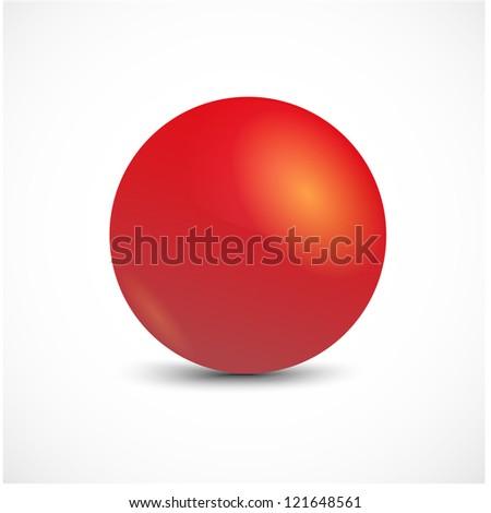 Red vector sphere. - stock vector