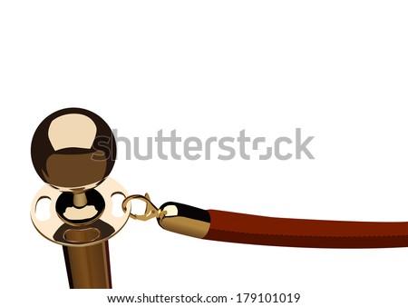 red velvet rope - stock vector