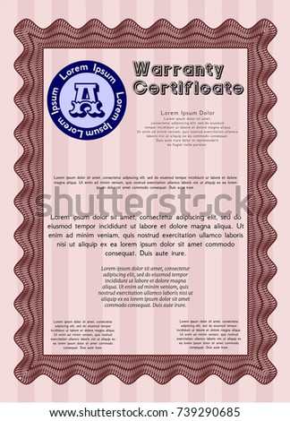Kids cooking class certificate design template red vintage warranty certificate template with guilloche pattern customizable easy to edit and yelopaper Images