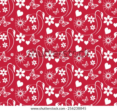 red wallpaper color, old style, template, image for your design of cards, invitations, paper packaging, book covers, wall. - stock vector