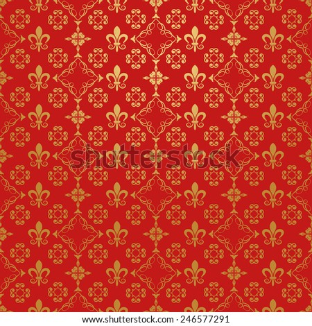 Red Wallpaper for Your design - stock vector