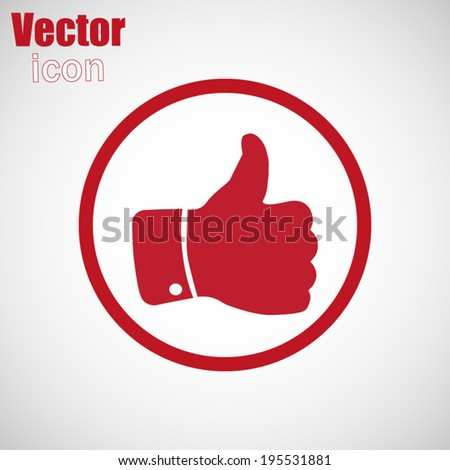 red web icon - stock vector
