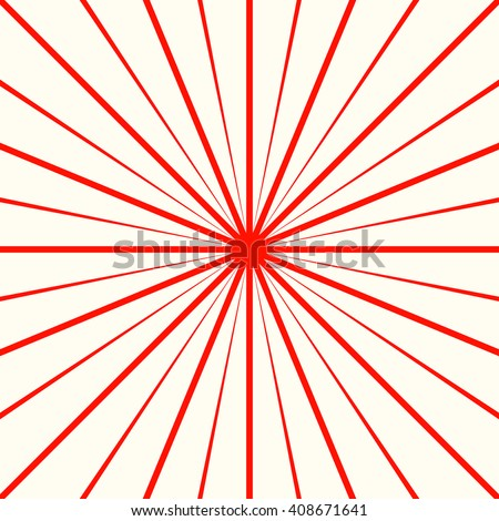 Red White Stylized Sunbeam Background Striped Abstract Wallpaper Vector Illustration