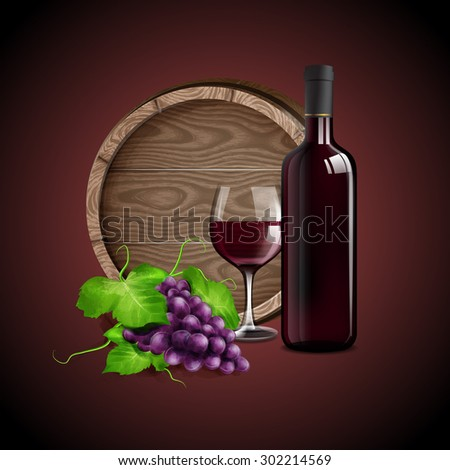 RED WINE BANNER QUALITY - stock vector