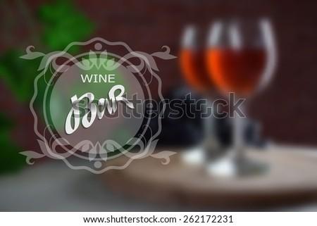 Red wine. Vector background - stock vector