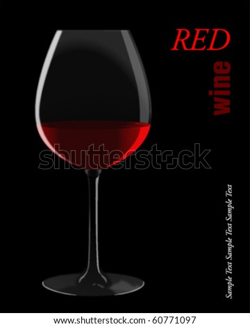 Red wine. Vector illustration.