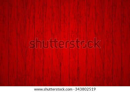 Red wood panels used as background - Vector - stock vector