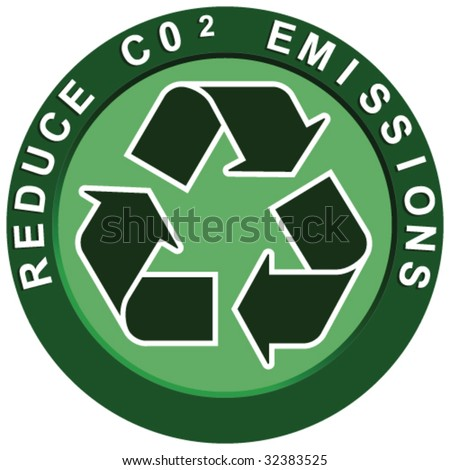 Reduce Carbon Logo - stock vector