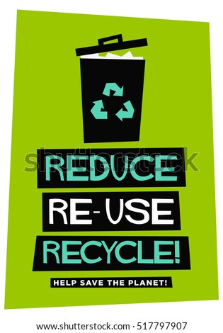 Reduce reuse recycle flat style vector stock vector 517797907 shutterstock - How to reuse magazines seven inspired ideas ...