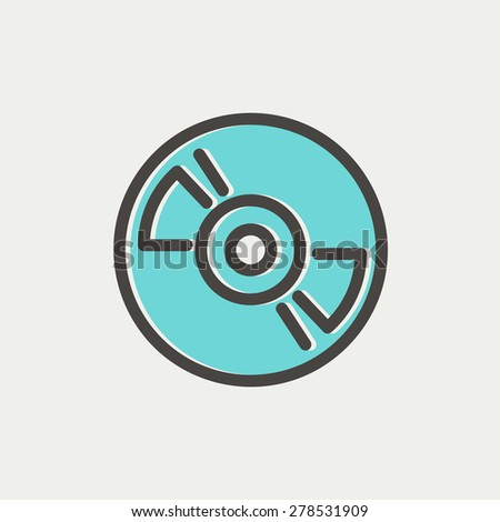 Reel tape deck player recorder icon thin line for web and mobile, modern minimalistic flat design. Vector icon with dark grey outline and offset colour on light grey background. - stock vector