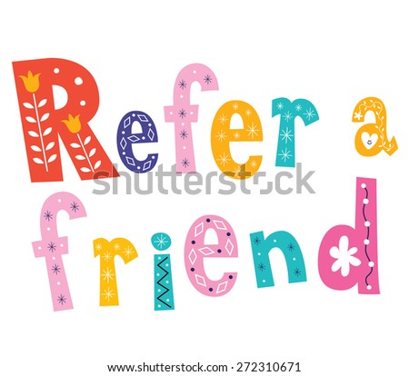 Refer a friend - stock vector