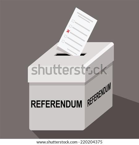 referendum ballot box - stock vector