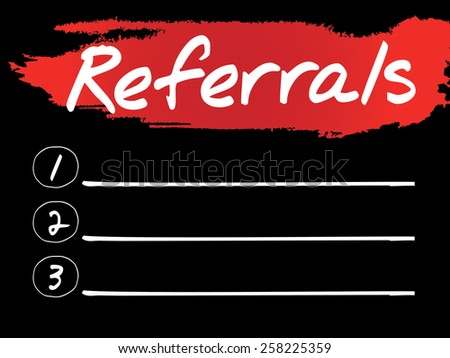 Referrals Blank List, vector concept background - stock vector
