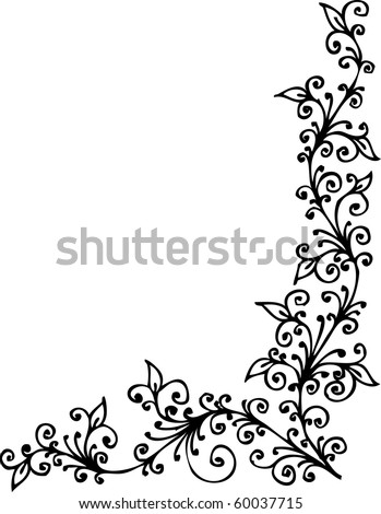 Refined Floral vignette CDIII - stock vector