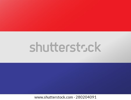 reflection flag netherlands - stock vector
