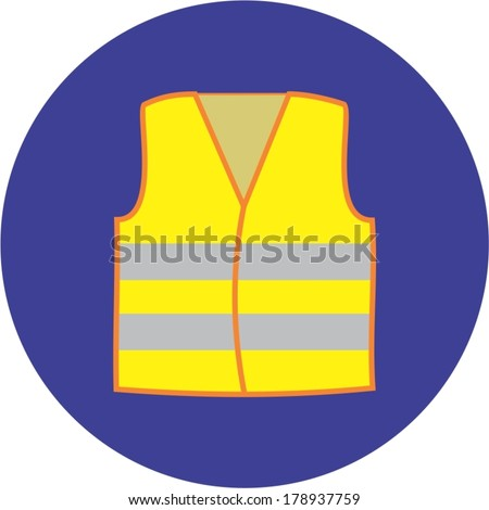 reflective vest, mandatory use - stock vector