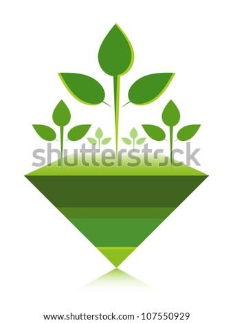 Reforestation design concept. - stock vector