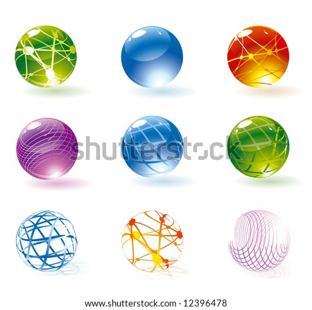 Refracting spheres. Vector. - stock vector