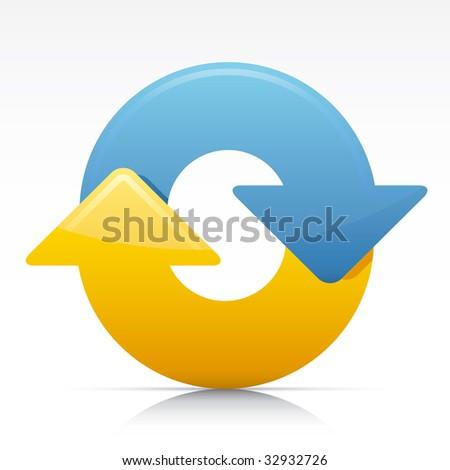Refresh arrows. Vector in Adobe Illustrator EPS for multiple applications. - stock vector