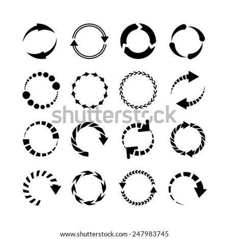 refresh, reload arrow icons - stock vector