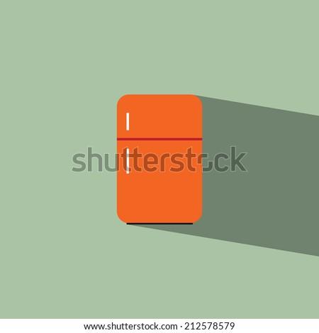 refrigerator flat icon  vector illustration eps10  - stock vector