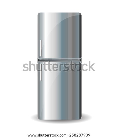 Refrigerator isolated on white background - stock vector