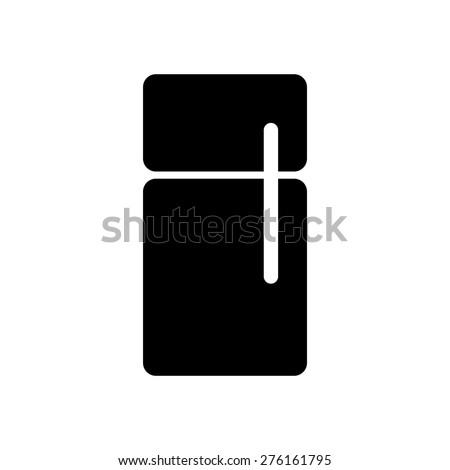 Refrigerator symbol icon vector illustration eps10 on white background - stock vector