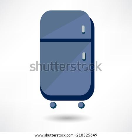 Refrigerator, vector, icon - stock vector