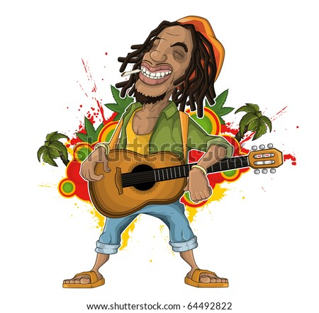 Reggae Artist - stock vector
