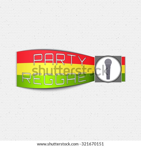 Reggae Party Insignia Labels Can Be Vector 321670142 – Jamaican Party Invitations
