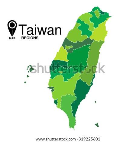 Regions map taiwan taiwan stock vector 319225601 shutterstock regions map of taiwan taiwan gumiabroncs Gallery