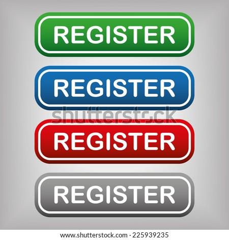 Register Button - stock vector