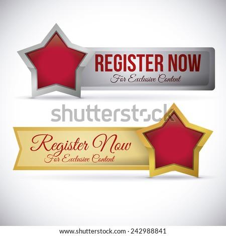 register button design, vector illustration eps10 graphic  - stock vector
