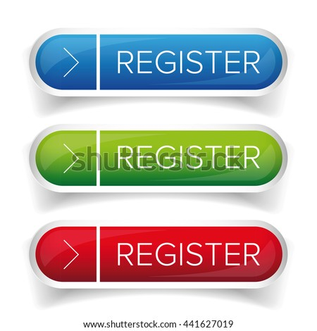 Register button web vector - stock vector