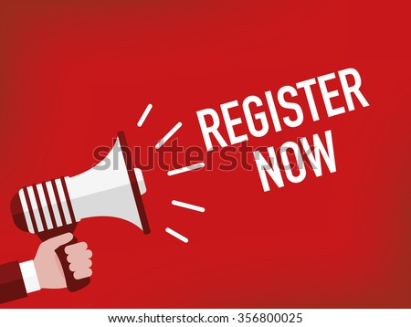 REGISTER NOW - stock vector