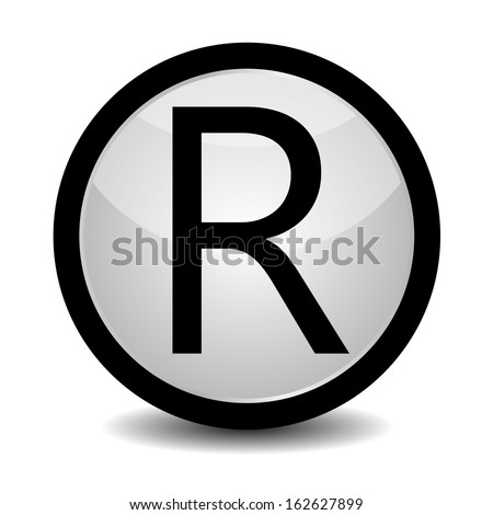 Registered Trademark - icon - stock vector