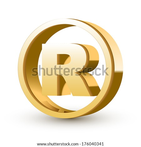registered trademark sign isolated white background - stock vector