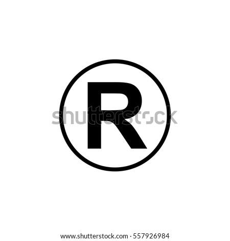 Registered Trademark Symbol Stockvector Rechtenvrij 557926984