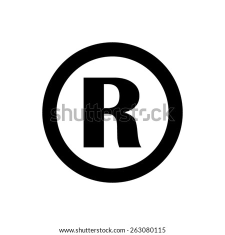 Registered Trademark - vector icon - stock vector