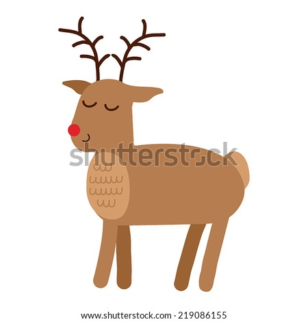 Reindeer. Holiday vector illustration - stock vector
