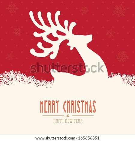 reindeer merry christmas - stock vector