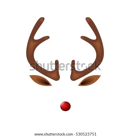 Reindeer antlers stock images royalty free images for Rudolph antlers template